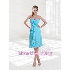 Discount Empire Sweetheart Ruching Knee Length Bridesmaid Dresses for... via Polyvore