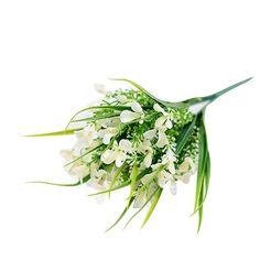 Eenkula 2PC Fleurs Artificielles Glaïeuls Faux Bouquets Maison de Mariage…