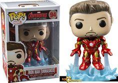 Funko POP! Unmasked Iron Man.
