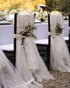White and simple chair covers
