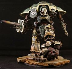 Imperial Knight Warlord, Painted by John Stiening. gorgeous job, +geek points for knowing it served with the sons of horus.