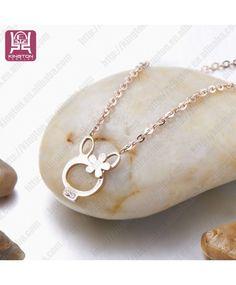 beau collier pendentif lapin, lapin bijoux collier