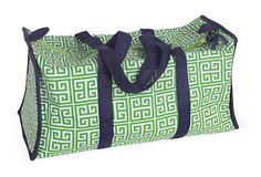 #forme Greek Key Duffel Bag, Green on OneKingsLane.com