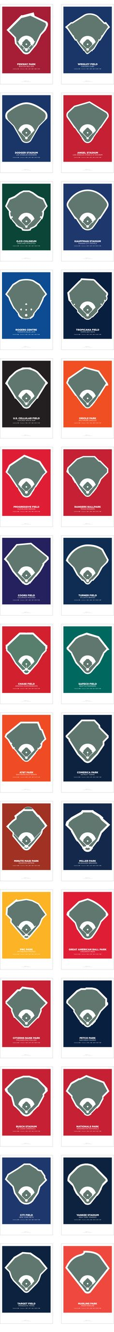 THIRTY81: The Fields of Baseball Poster Series, ReKicked by Lou Spirito — Kickstarter #baseballgame