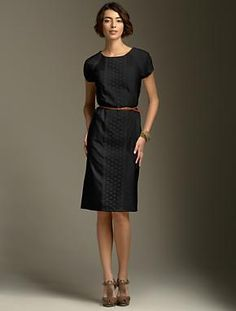 Classy with a bit of lace, like the lines of the dress. Can dress it up or make it more casual.