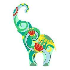 elefante colorato