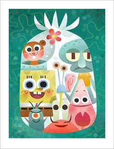 Joey Chou - Nautical Nonsense: A Tribute to SpongeBob SquarePants Cartoon Wallpaper, Iphone Wallpaper, Illustrations, Illustration Art, Joey Chou, Wallpaper Fofos, Art Phone Cases, Design Poster, Wow Art