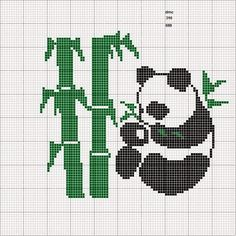 FREE GRAPHICS POINT CROSS: PANDA AND BEARS (24)