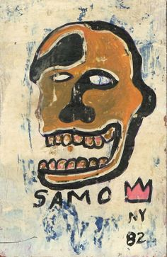"Jean-Michele Basquiat NYC Street Art Postcard Painting ""SAMO HEAD"" #NeoExpressionismStreetArt Urban Painting, Oil Painting On Canvas, Painting Frames, Basquiat Paintings, Jean Michel, Dope Art, Outsider Art, Online Art, Figurative"