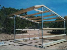 DIY horse shelter metal poles - Google Search