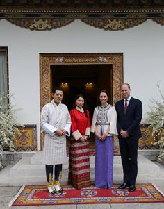 The Duke and Duchess of Cambridge were invited to the Lingkana Palace after the Royal Audience at the Tashichhodzong.