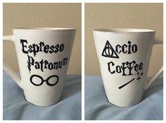 Harry Potter Coffee Mug: Espresso Patronum! Accio Coffee!