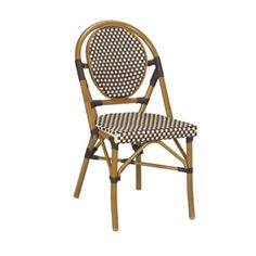 Marina Stacking Side Chair, designed for indoor/outdoor use, woven nylon back and seat, aluminum frame             Dimensions are provided by manufacturer and are not guaranteed to be precise product dimensions            Height -   35.00 inches          Width -   17.00 inches