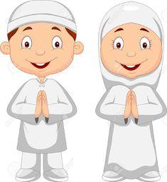 Gambar Muslim Children Clipart Clipground Kid Cartoon Royalty Free