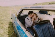 Wedding, bride, wedding dress, groom, wedding day, свадьба, свадебное платье, retro, retro auto, retro wedding, blue, white, awesome