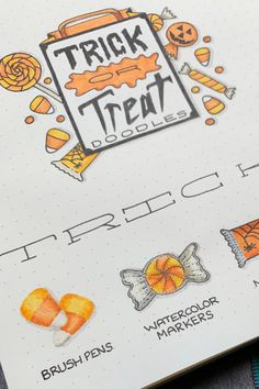 Add these sweet treats to your Bullet Journal with this quick doodle how-to! Happy Halloween!