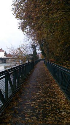 so beautiful Steyr, Railroad Tracks, Austria, Autumn, Beautiful, Fall