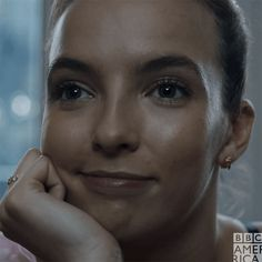 New trending GIF on Giphy - Jodie Comer - Killing Eve - Serie Detective, Sid The Sloth, Smile Gif, Joan Baez, Jodie Comer, Bbc America, Portraits, Just Girl Things, Psychopath