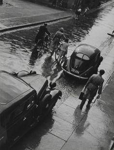 Siegfried Lauterwasser, Untitled (Street in the Rain), 1950s