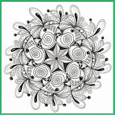 """I created this Mandala using the featured """"Sunday Circular"""" template for September 2011. www.flickr.com/photos/paintchip_61/6105693719/in/photostr... You can download free copies of my Sunday Circular templates from RainbowElephant.com"""