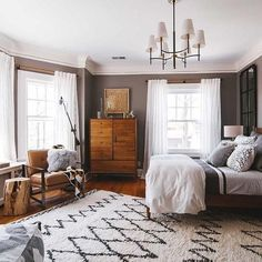 Favourite Farmhouse Master Bedroom Decor Ideas - Home/Decor/Diy/Design Blue Master Bedroom, Master Bedroom Design, Dream Bedroom, Home Decor Bedroom, Modern Bedroom, Bedroom Furniture, Bedroom Ideas, Bedroom Apartment, Contemporary Bedroom
