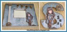 Lletra Gorjuss Cute Cards, Copic, Mini Albums, Handmade Cards, Cardmaking, Blog, Scrapbooking, Decor Ideas, Frame