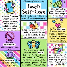 Tough Self-Love and Practicing Difficult Self-Care - Blessing Manifesting Mental Health Support, Mental And Emotional Health, Mental Health Matters, Mental Health Awareness, Self Care Activities, Self Compassion, Self Healing, Self Improvement Tips, Self Care Routine