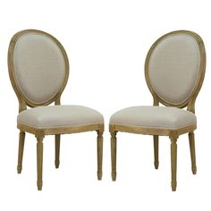 French Medallion Side Chairs -Pair