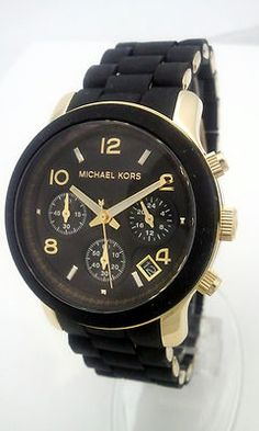Black & Gold michael kors watch! Still love it even though everyone's joined the party! Want the plain gold one now!