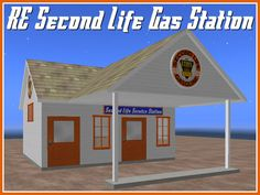 RE Second Life Gas Station - On Sale! Service Station for City or Country Decoration!