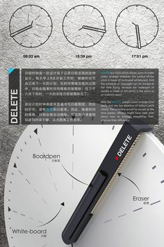 Delete Clock by Li Ke, Pang Sheng Li & Chen Yi Lin offer user an innovative way of planning activities with jotting down notes and tasks function. Schedule Printable, The Time Is Now, Yanko Design, Design Competitions, Chen, Clocks, Concept, Let It Be, How To Plan