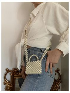 Diy Fashion, Fashion Bags, Ideias Fashion, Fashion Outfits, Beaded Purses, Beaded Bags, Bag Women, Mode Kpop, Popular Handbags