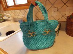 Vintage Turquoise  Purse Handbag Sears by sistersfuntreasures, $12.99