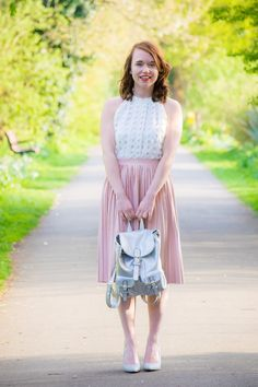 See how Call Me Liz has styled her silver backpack from Ooh Accessories for Spring here.