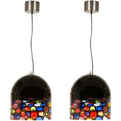 Pair of Murano Pendants | From a unique collection of antique and modern chandeliers and pendants  at http://www.1stdibs.com/furniture/lighting/chandeliers-pendant-lights/