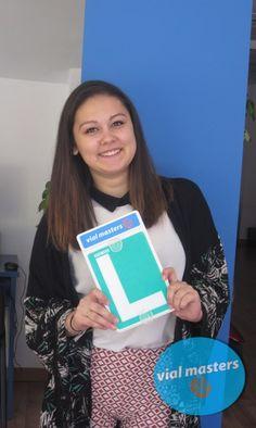 Mónica se sacó el carnet de conducir en  Autoescuela Vial Masters. ¡¡A disfrutarlo!!  Más en http://vialmasters.es.