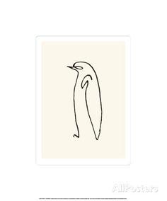 Le pingouin, vers 1907 Sérigraphie par Pablo Picasso sur AllPosters.fr