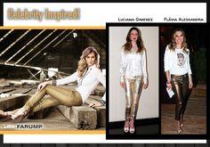 Jeans metalizado é hype!