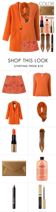 """""""Orange"""" by grozdana-v ❤ liked on Polyvore featuring Alice + Olivia, PHILO-SOFIE, Andrew Marc, Bobbi Brown Cosmetics, Givenchy, Neiman Marcus, philosophy and NARS Cosmetics"""
