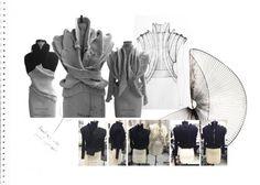 Fashion Sketchbook - fashion design & draping development; fashion portfolio // Hannah Eason