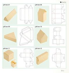 New Ideas Diy Paper Box Template Origami Diy Gift Box, Diy Box, Diy Gifts, Handmade Gifts, Gift Boxes, Handmade Boxes, Book Boxes, Food Gifts, Recycled Crafts