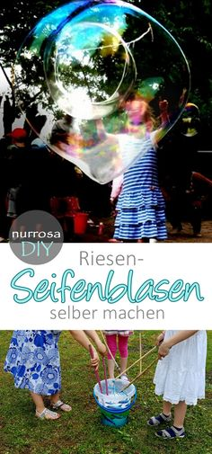 Make large soap bubbles / giant soap bubbles yourself - Outdoor Ideas - Große Seifenblasen / Riesenseifenblasen selber machen – Outdoor Ideas Make large soap bubbles / giant soap bubbles yourself # Make large soap bubbles / giant soap bubbles yourself Mothers Day Crafts For Kids, Crafts For Teens To Make, Diy For Teens, Diy For Kids, Outdoor Activities For Kids, Party Activities, Homemade Bubble Solution, Bubble Diy, Giant Bubbles
