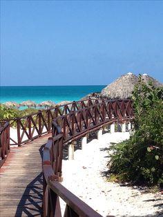 Cuba has gorgeous beaches and water like  here at Memories resort in Cayo Santa Maria