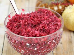 Fresh Cranberry Relish - this easy holiday side dish is made with fresh cranberries and oranges