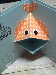 Pop up book F for fish Boy Cards, Kids Cards, Cute Cards, Fancy Fold Cards, Folded Cards, Pop Up, Punch Art Cards, Interactive Cards, Kids Birthday Cards