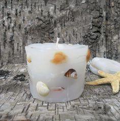 Seashells candle Beach Decor Seashell Candle  Shell by seanatural, $12.00