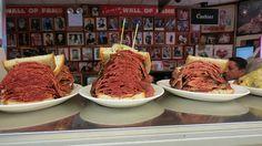 Carnegie Deli in New York A must when in NYC Get The Reuben Sandwich OMG Yum !