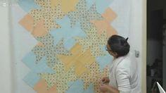Patchwork Ao Vivo #31: Tessellation Quilt em uma manta para bebê