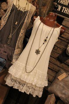 Warming Hearts Ivory Tank Dress