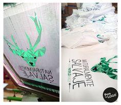 Camisetas serigrafiadas a dos colroes para Wild World Race, Valverde del Camino, Huelva